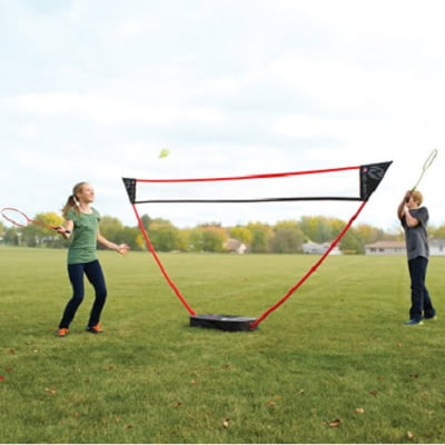 The Instant Badminton Court - Now you can instantly create a court on a lawn, driveway, beach, or any flat surface