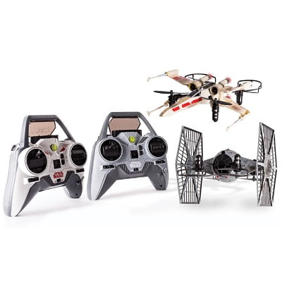 The Battling X-Wing And Tie Fighter Drones