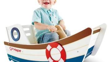 The Child's Wooden Rocking Boat
