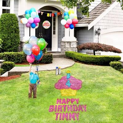 The Birthday Lawn Stencil Kit 1