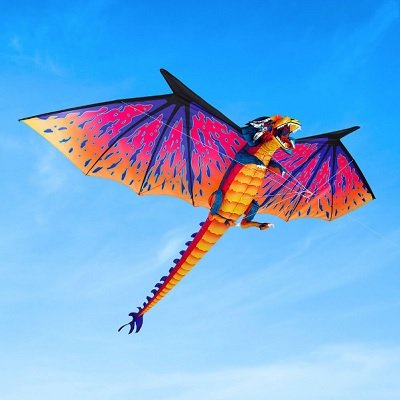 The 10 Foot Dragon Kite - A dragon kite that soars in the air with a 10 feet wide wingspan