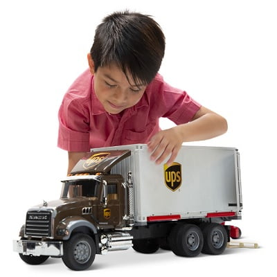 The UPS Working Truck And Forklift