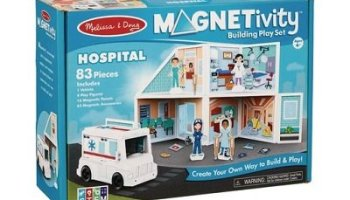 Magnetic Building Hospital Play Set