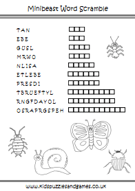 Minibeasts  Kids Puzzles and Games