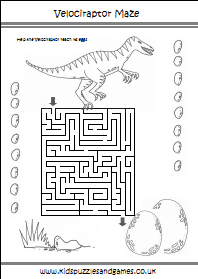 Dinosaurs Puzzle Sheets Kids Puzzles And Games