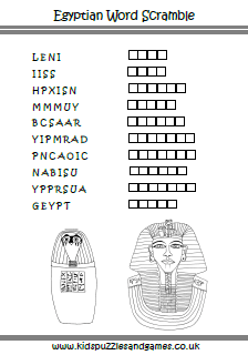 Ancient Egypt Puzzle Sheets  Kids Puzzles and Games
