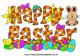 happy easter poster kids