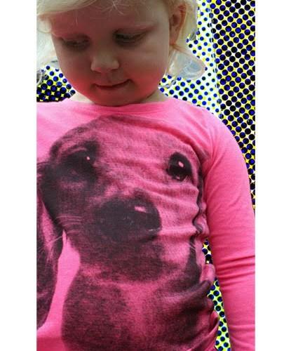 Hema longsleeve hond-roze