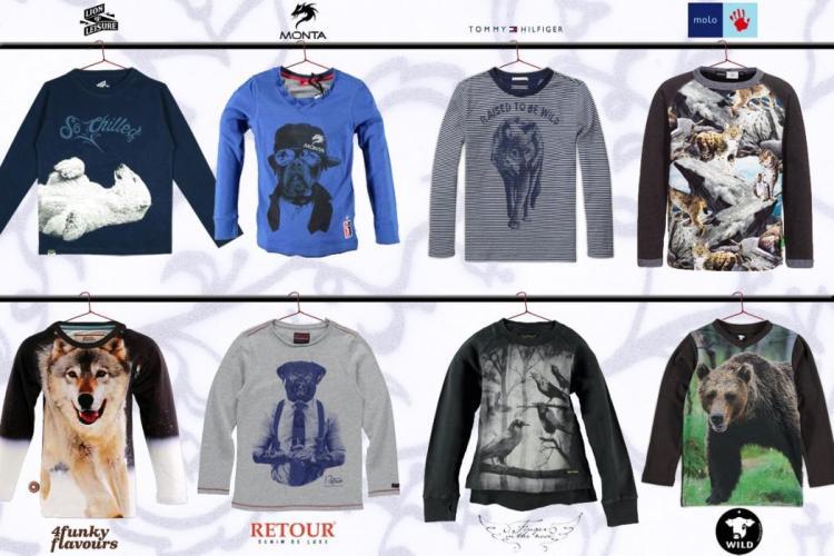 Shirts met dierenprint voor jongens