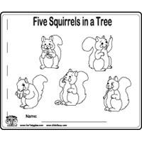 Squirrels Preschool and Kindergarten Activities and