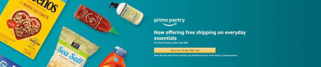 New Amazon Prime Pantry Subscription