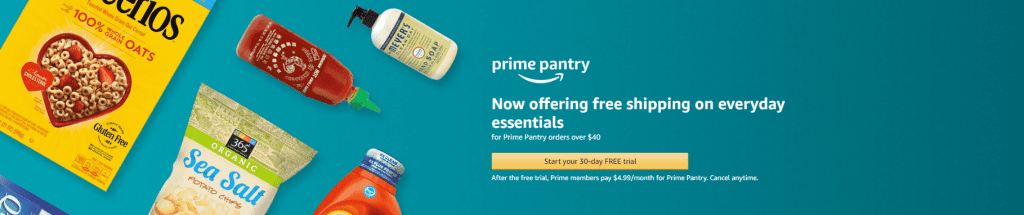 New Amazon Prime Pantry Subscription