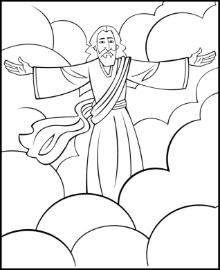 Free coloring pages of jesus return
