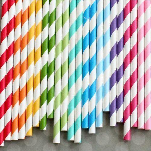 Colored straws.