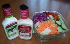 Salad and dressing from Sobeys