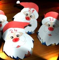 Adventskalender basteln in der Weihnachtsseite fr Kinder