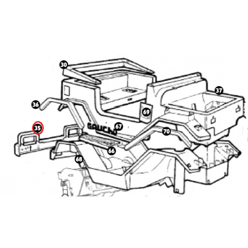 Peg Perego Gaucho Rear Bumper Assembly SAGI0318KGP