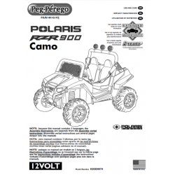 Peg Perego Polaris Ranger RZR 900 Camo User Manual