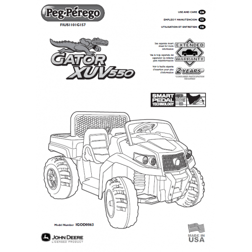John Deere Gator Ride On Toy Manual
