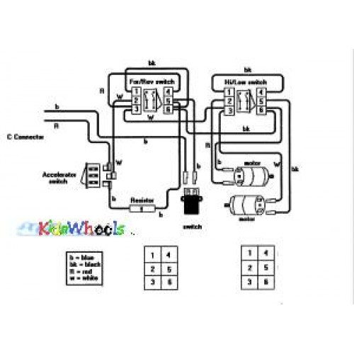 12 /18/24 Volt Single Battery Ride On Toy Wiring Diagram