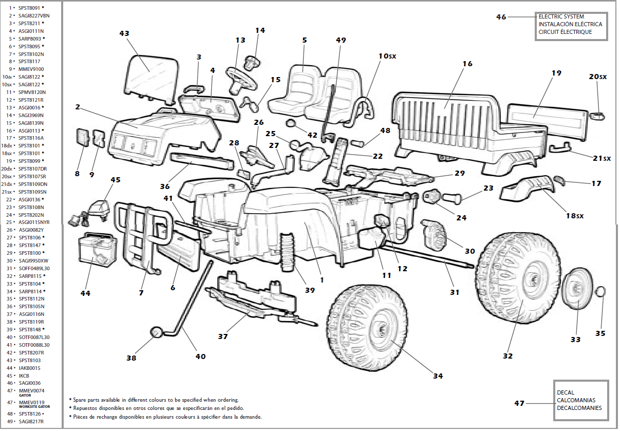 John Deere Gator (Revised) IGOD0004 IGOD0033 Parts