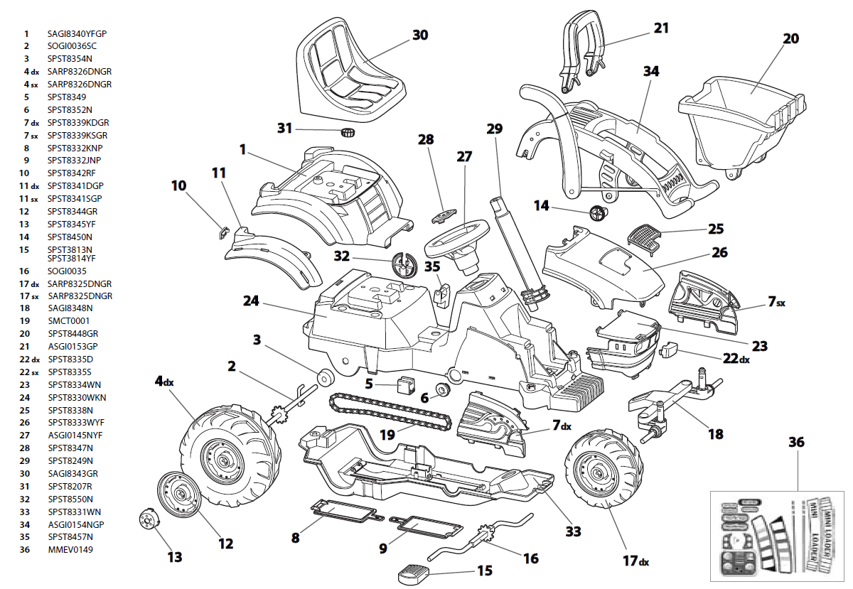 John Deere 116 Part Schematic