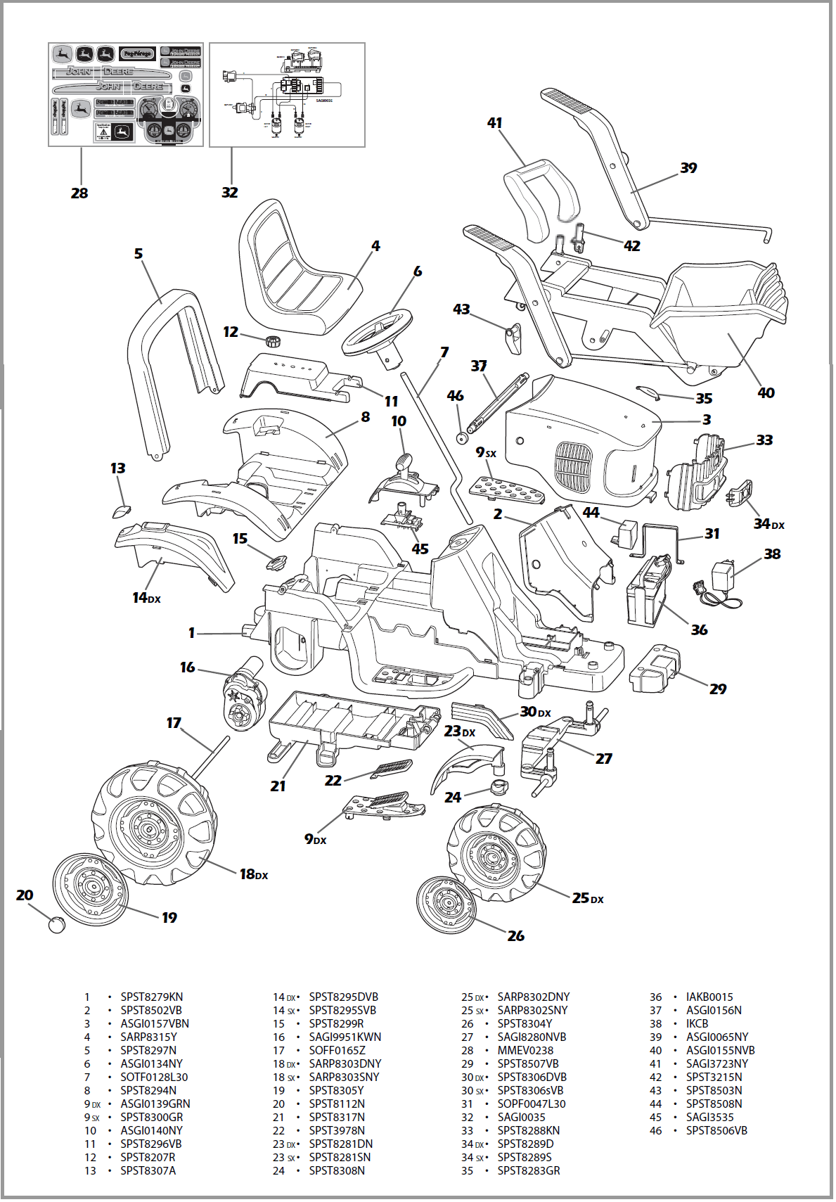John Deere 48 Mower Deck Parts Diagram
