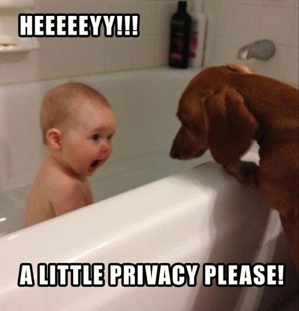 funny kid taking bath