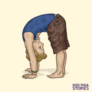 Standing Forward Bend Pose   Kids Yoga Stories