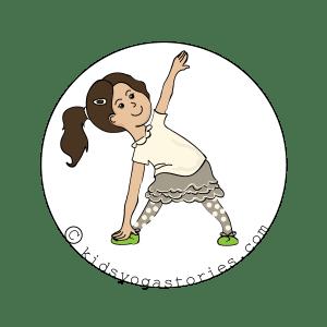 Triangle Pose Kids Yoga