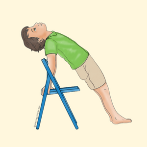 balance chair for kids red upholstered dining chairs 40 kid friendly yoga poses stories reverse plank pose using a