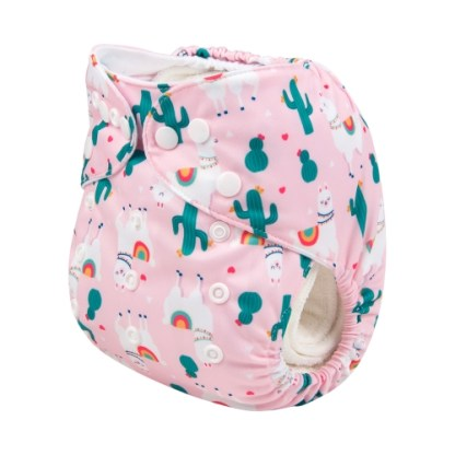 Alvababy Reusable Cloth Pocket Nappy Llama