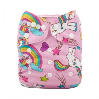 Reusable Cloth Pocket Nappy Unicorn