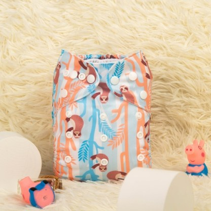 Reusable Cloth Pocket Nappy Sloth
