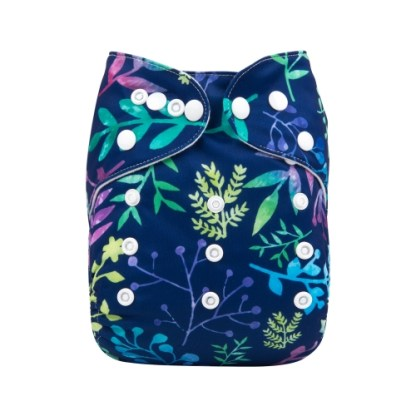 Reusable Cloth Pocket Nappy Winter flowers