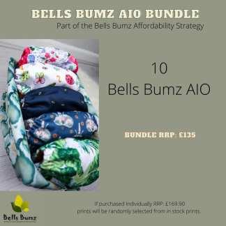 Reusable Nappy AIO kit Bells Bumz