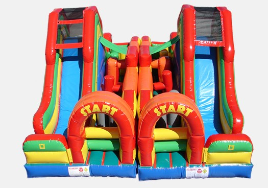 Dual Lap Obstacle Challenge  Inflatable Obstacle Course