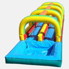 Inflatable Chairs For Adults Chair Cover Rentals Long Island Ny Slip And Slide Double Lane W/ Pool - Waterslide