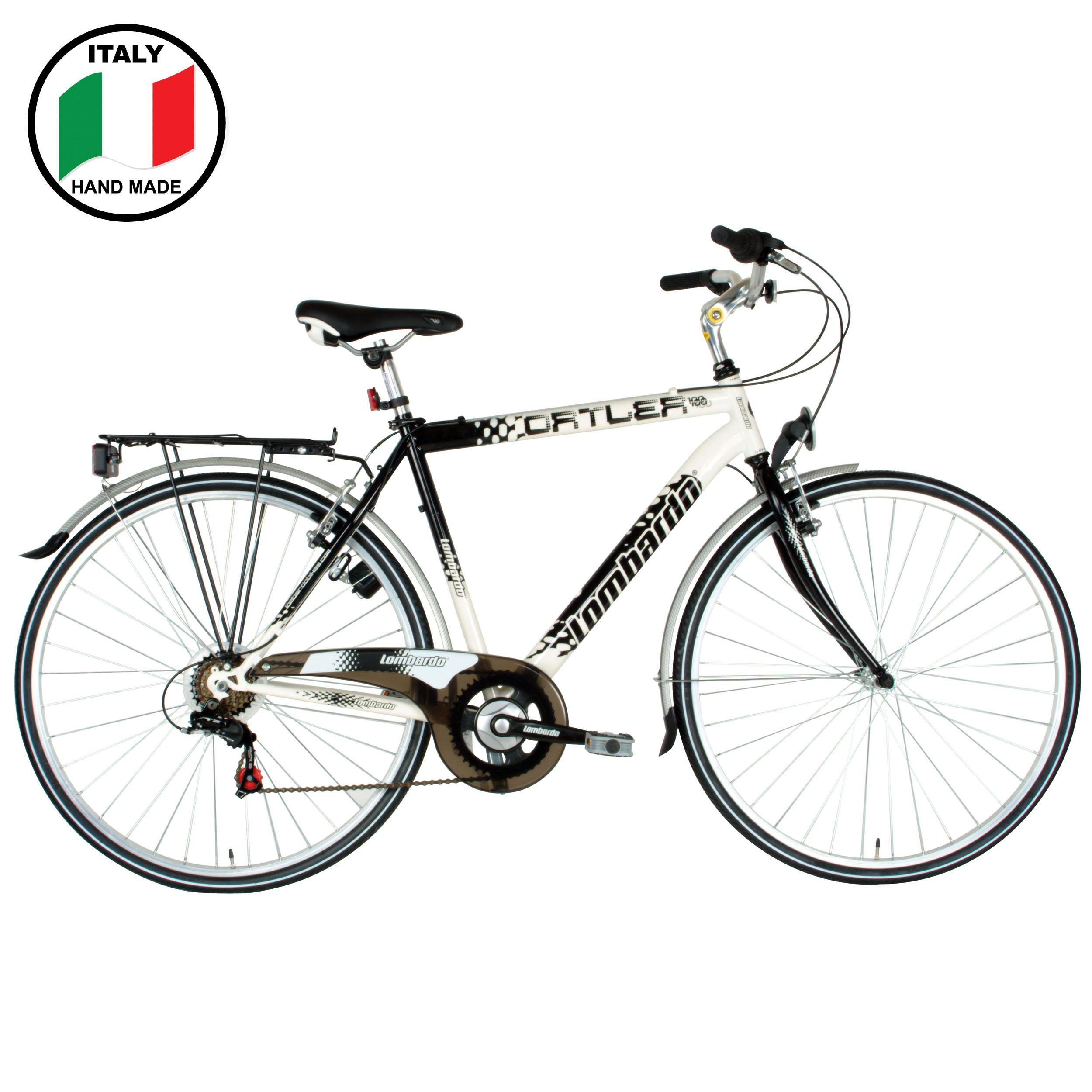 Lombardo Ortler 100 28 Inch Men S Bike Black And White