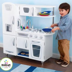Kid Craft Kitchen Center Island Kidkraft Canada Kitchens In White Vintage Features Include Doors Open And Close Oven Knobs Click Turn Tons Of Convenient Storage Space