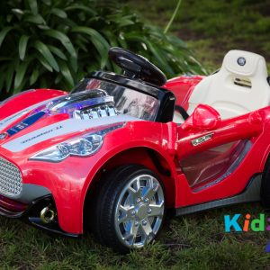 Turbo-Racer-Red-Ride-on-Car-Front-Garden