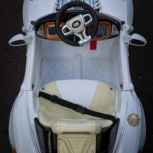 Turbo-Racer-White-Ride-on-Car-Top2