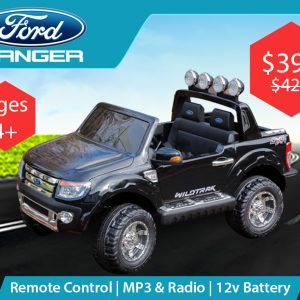 Licensed Ford Ranger (Black) - Ride on Cars