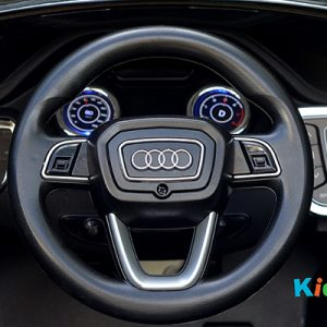 Audi-Q7-Black-Ride-on-Car-Steering-Wheel