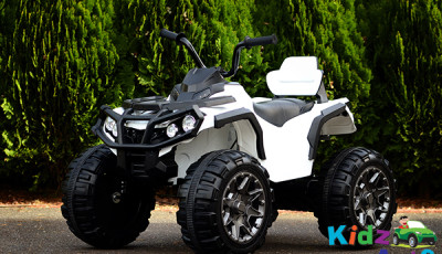 ATV-White-Ride-on-Bike-Front-Side