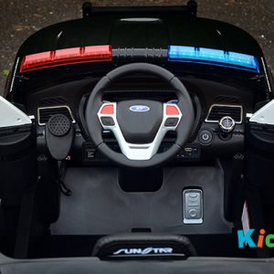 Kidz Auto Ride On Police Car - Dashboard