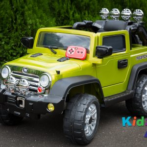 Jeep-Green-Ride-on-Car-Front-With-Remote