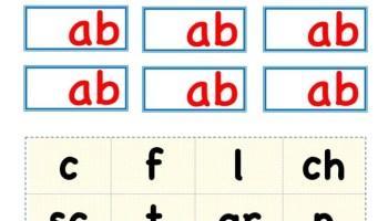 Building ab words activity worksheet