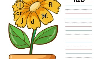 ab word family - writing words worksheet