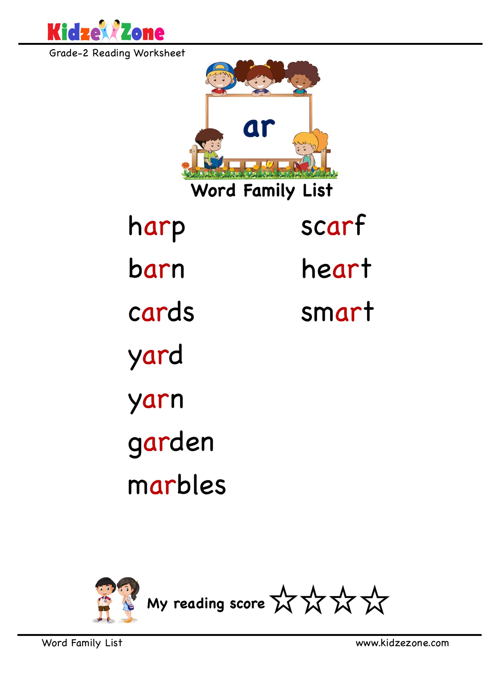 Explore And Learn Words From Ar Word Family With Word